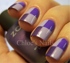 Chloe's Nails: Too much purple... NEVER!
