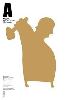 Poster Musée cantonal d'archéologie et d'histoire Studio KO