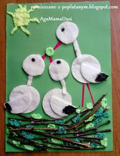 I would change birds. Spring Crafts For Kids, Paper Crafts For Kids, Summer Crafts, Preschool Crafts, Diy For Kids, Diy And Crafts, Arts And Crafts, Preschool Learning, Bird Crafts