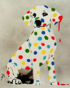 Damien's Dotty, Spotty, Puppy Dawg (on plain paper) + FREE Poem by Juan Sly Free Poems, Hirst, Paintings For Sale, Urban Art, Online Art Gallery, Buy Art, Paper Art, Original Artwork, Games