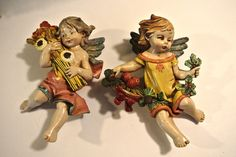 FONTANINI DEPOSE ITALY FOUR SEASONS Fall WINTER NATIVITY HANGING CHERUB ANGEL