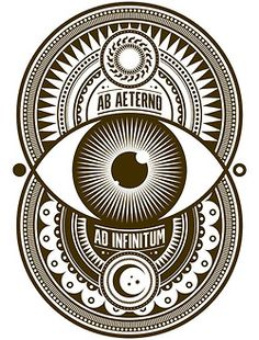 Ab Aeterno, Ad Infinitum - Graphic Artwork by Samuel Pedrosa Spooky Tattoos, Pisces Tattoos, Tatoos, Platonic Solid, Sacred Geometry Tattoo, Graphic Artwork, Flower Of Life, Pop Art, Occult