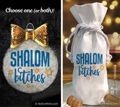 Assortment of Foil and Glitter Embellishments LChaim Jewish Pack of 4 Wine Mazel Tov Gift Bags