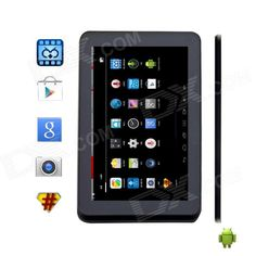 """V76Pro 7.0"""" Quad-core Android 4.4 Tablet PC w/ 512MB RAM, 4GB ROM, TF, Dual-Camera - White Price: $63.18"""