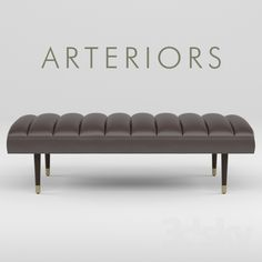 models: Other soft seating - Bench Arteriors Christophe End Of Bed Bench, Bed End, Bench Furniture, Art Deco Furniture, Ottoman Bench, Living Furniture, Furniture Design, Soft Seating, Sofa Chair
