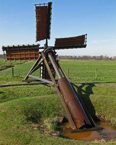 Polder mill (boktjasker), Augustinusga, The Netherlands
