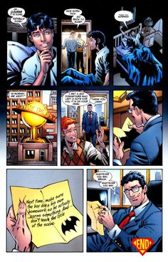 superman does dick's homework, part two: http://fyeahdickgrayson.tumblr.com/post/830505647/via-fuckyeahrobins-my-love-for-superman-is-half