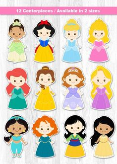 55 new Ideas party ideas disney princess etsy Disney Princess Centerpieces, Disney Princess Cupcakes, Princess Cupcake Toppers, Cupcake Toppers Free, Disney Princess Birthday, Princess Theme, Felt Dolls, Paper Dolls, Birthday Party Tables