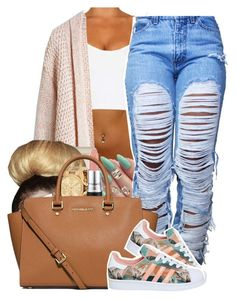 """3:O9 PM O7 / 12/ 2O15 MICHAEL KORS + ADIDAS ."" by vintagetrillbrat ❤ liked on Polyvore featuring Topshop, Michael Kors, MAC Cosmetics, MICHAEL Michael Kors and adidas"