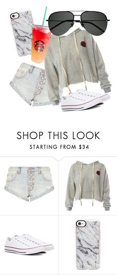 """""""Untitled #115"""" by weirdoqueen on Polyvore featuring OneTeaspoon, Sans Souci, Converse, Casetify and Yves Saint Laurent"""