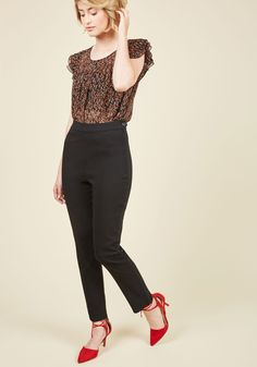 A Chic Start Pants in Black, @ModCloth