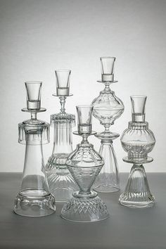 Crystal towers glued together for votives. victorian and darling! Good use of ll that unused crystal in our china cabinets! Glass Garden Art, Glass Art, Clear Glass, Creation Deco, Glass Flowers, Recycled Glass, Yard Art, Candlesticks, Diy Home Decor