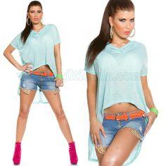 #Camiseta #Mujer #Larga y @Holgada @tejido #elastico de #excelente #calidad para un #look #actual, #joven y #comodo que #marca #tendencia para #complementar con todas #nuestras #prendas de #vestir. #Top #largo y #ancho con #capucha #diseño #corto de #delante con #colores #vivos y #sofisticados. #Encuentralo en:   http://www.agiltienda.com/es/tops-y-camisetas/2207-camiseta-mujer-larga-y-holgada-8400220714114.html?  #Online #shop @agiltienda.es #sexy #fashion