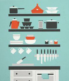 The Kitchenist by Isabel Foo, via Behance