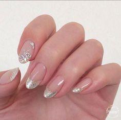 42 charming nail art for wedding 2018 Bridal Nails, Wedding Nails, Nail Polish Designs, Nail Art Designs, Cute Nails, Pretty Nails, Rose Gold Nails, French Tip Nails, Flower Nails