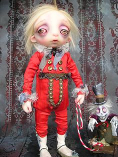 OOAK Victorian Gothic Macabre Ghost Doll by Gail lackey. $1,450.00, via Etsy.