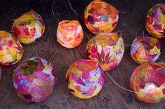 colourful balloon lanterns
