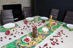 Parures de table avec du Wax / WaxinDeco / ankara table set / mat with Wax / placemat with ankara /homedeco / chemin de table / set de table / décoration d'intérieur