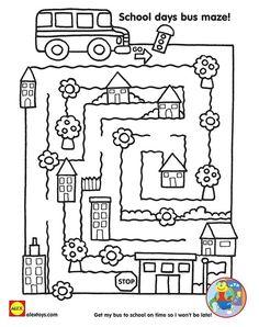 Get kids prepared about the back to school season with fun free printables! Preschool Curriculum, Preschool Learning, Preschool Activities, September Activities, Back To School Activities, Tot School, School Classroom, Printable Mazes, Free Printables