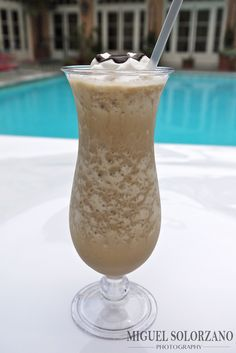 Frozen Tiramisu cocktail with Van Gogh Dutch Caramel vodka blended with frozen cappuccino.