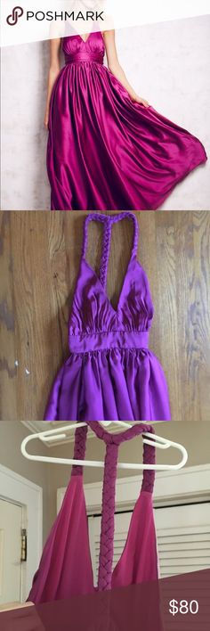 Magenta Rae Fallon dress From Free People. Worn once for prom- perfect for formal events!! I am 5'6 and wore heels. Free People Dresses Maxi