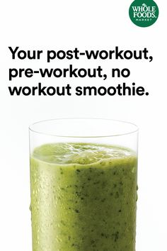 You	don't need an excuse to enjoy a refreshing green smoothie. Whether it's pre-workout, post-workout or	no	workout – we say, go for it. #Smoothies #MakesMeWhole