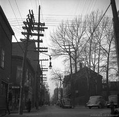 St. dominique Street : Looking North from Dorchester St. . - 1937 - Archives de Montréal