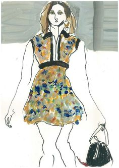 Modeconnect.com - Louis Vuitton A/W14 illustration by Helen Bullock