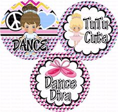 Dance Diva Bottle Cap Images 4x6 Bottlecap Collage by designsbyPM