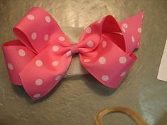 Hair bow tutorial...this would work with the bucket