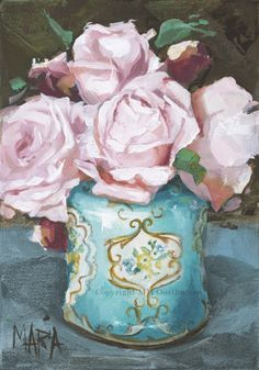 Pink Original Fine Art Painting by Maria Magdalena Oosthuizen. Medium: Acrylic on Canvas. Stretched, and Blocked, Not Framed. Original Artwork, Original Paintings, Paintings I Love, Art Paintings, South African Artists, Pink Houses, My Flower, Canvas Art Prints, Art Pictures