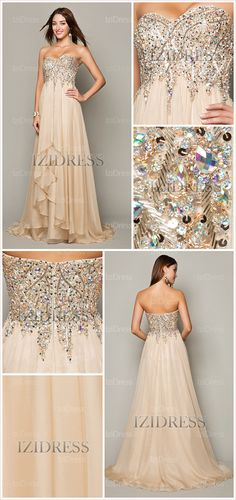 A-Line/Princess Strapless Sweetheart Prom Dress