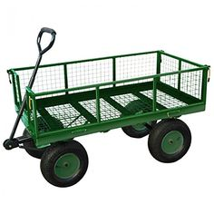 NEW Heavy Duty Metal Green Garden Cart Barrow Utility Log Timber Trolley  Cage In Business, Office U0026 Industrial, Industrial Tools, Lifting Tools