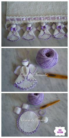 Angel Crochet Pattern Free, Crochet Ornament Patterns, Crochet Snowflake Pattern, Crochet Angels, Crochet Ornaments, Free Crochet, Crochet Roses, Crochet Christmas Wreath, Crochet Christmas Stocking Pattern