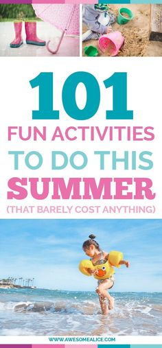 """Here's a list of 101 activities for when it's raining, adventures, outdoors, road trip and in the kitchen. Put these 101 activities on your summer bucket list and it will prevent your kids from being bored, and let them create memories that will last all the way to the first day of school when they're asked: """"What did you do this summer?"""""""