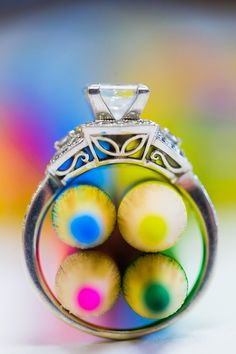 Cool ring shot with colored pencils -- perfect for teachers!