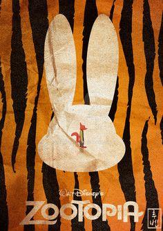 Zootopia ~ Minimal Movie Poster by Ruben ~ Disney Series Disney Pixar, Walt Disney, Disney And Dreamworks, Disney Animation, Disney Love, Disney Magic, Disney Art, Disney Movie Posters, Movie Poster Art