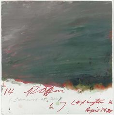 Cy Twombly, 14 Papers, 1983.