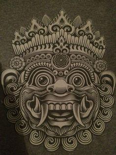 Barong Bali mask