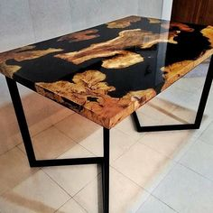 Dining table wood olivier and resins #diningtable