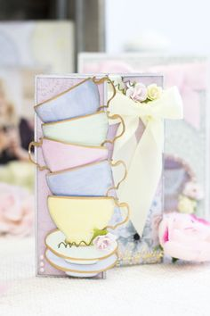 New from #saradavies and #crafterscompanion ... Vintage Tea Party!