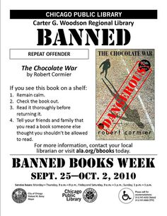 The Chocolate War - Banned Books Week 2010 Flyer 4ccdee6c6189b