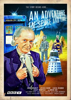 A second movie poster for 'An Adventure in Space and Time'.
