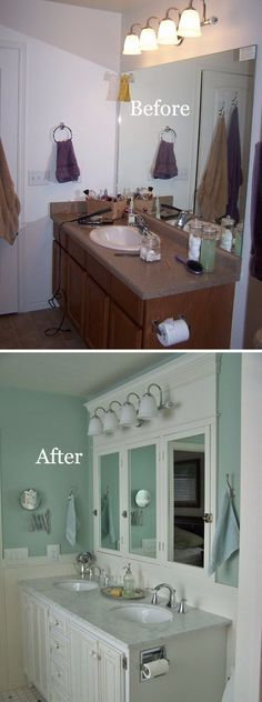 For master bathroom: oval undermounted sinks, white quartz countertop, chrome double-handle widespread faucets