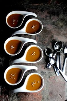 salted caramel brown sugar pots de creme • taste with the eyes