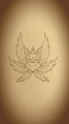 Diamond crown wings art