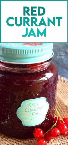 An easy to prepare Red Currant Jam recipe that will help you put all of those early summer red currants to good use all year long! #red #currant #jam #homemade #easy #redcurrants Jelly Recipes, Jam Recipes, Fruit Recipes, Brunch Recipes, Dessert Recipes, Cooking Recipes, Easy Desserts, Delicious Desserts, Red Currant Jam