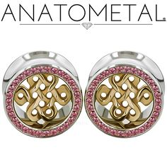 New Celtic knot Eyelets from Anatometal. Inserts and gem stones can be customized and ordered in shop. Photo by Anatometal.