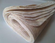 8 Organic Wash cloth/Wipe cloth Unbleached Set by LilTotWonder, $13.50