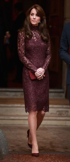 Duchess Of Cambridge wears a Dolce&Gabbana lace dress - State Visit Of The President Of The People's Republic Of China - Day 3 - October 21, 2015 #DGwomen
